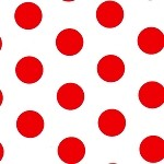 Large Dots Red Printed Tissue Paper (20