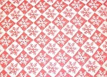 Snowflake Check Red/White Printed Tissue Paper (20