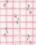 Tulips on Plaid Printed Tissue Paper (20