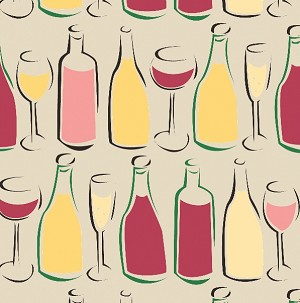 "Wine Bottles Printed Tissue Paper (20"" x 30"" sheets)"