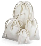 Cotton Pouches with Dual Knotted Drawstring