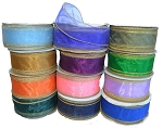 **CLOSEOUT** $1.50 & Up Wired Merrowed Edge Organza Ribbon