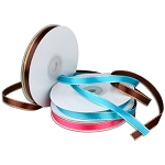 Satin Ribbon with Iridescent Edge