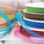 Polka Dot Organza Ribbon