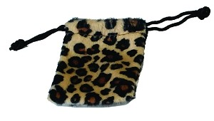 "Cheetah Flannel Safari Bags (2"" x 2.5""), 12 pouches"