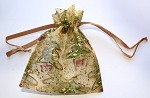 Gold Christmas Trees Pouches, 5