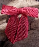 Jute Pre-Tied Bow, Red, 3 in x 2.25 in. tail (7/8