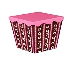 Pink-Chocolate Swirls Angled Gourmet Boxes with Lids, 3 boxes