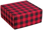 Buffalo Plaid Autolock Gift Boxes, 6 boxes