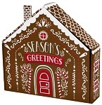 Gingerbread House Shaped Autolock Gift Boxes, 6 boxes