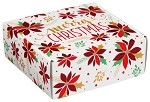 Christmas Poinsettia Autolock Gift Boxes, 6 boxes