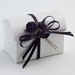 White Glossy Chest Favor Box (2-3/4
