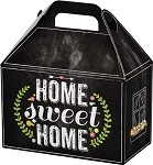 Chalkboard Home Sweet Home Medium Gable Box, (8.5