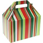 Christmas Stripe Gable Box - Medium (8