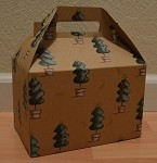 Christmas Topiary Gable Box - Medium (8