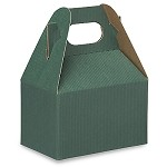 Hunter Green with Shadow Stripe Gable Box - Small (4