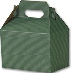 Hunter Green with Shadow Stripe Gable Box - Large (9