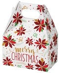 Christmas Poinsettia Small Gable Box - (4