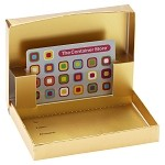 Gold Metallic Pop Up Gift Card Box (4-5/8