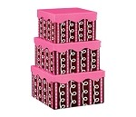 Pink Chocolate Swirls Nested Boxes