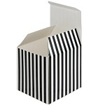 Black Striped Paper Box (3-1/4