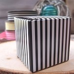 Black Striped Paper Mini Box (2