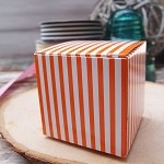 Orange Striped Paper Mini Box (2