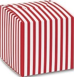 Red Striped Paper Box (3-1/4