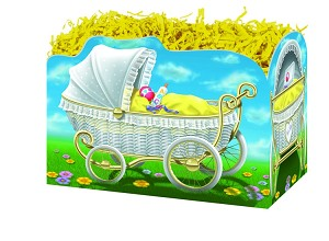 "Baby Carriage Basket Boxes (Small, 7"" x 4"" x 5"")"