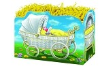 Baby Carriage Basket Boxes (Large, 10.25