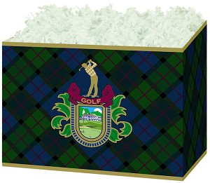 "Golf Crest Basket Boxes (Large, 10.25"" x 6"" x 7.5"")"