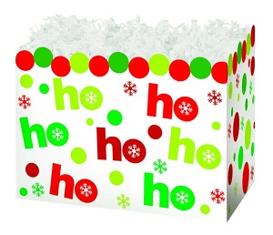"Ho Ho Dots Basket Boxes (Small, 7"" x 4"" x 5"")"