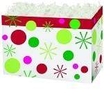 Holiday Dots Basket Boxes (Large, 10.25