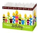 Birthday Party Basket Boxes (Large, 10.25