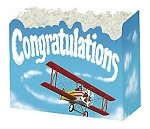 Congratulations with Plane Basket Boxes (Small, 7