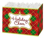 Holiday Cheer Basket Boxes (Large, 10.25