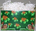 Holiday Holly Basket Boxes (Large, 10.25