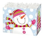 Smiling Snowman Basket Boxes (Small, 7