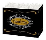 Thank You Script Basket Boxes (Small, 7