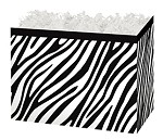 Zebra Stripes with Black Trim Basket Boxes (Large, 10.25