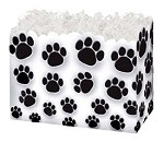 Paw Prints (White) Basket Boxes (Small, 7
