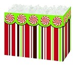 Peppermint Stripes Basket Boxes (Small, 7