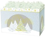 Silver & Gold Trees Basket Boxes (Large, 10.25