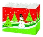 Snowman Forest Basket Boxes (Large, 10.25