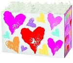 Stamped Hearts Basket Boxes (Small, 7