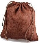 Brown Burlap Jute Bags - 10 pack