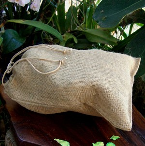Natural Burlap Jute Bags - 10 pack