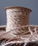 Ivory-Natural Jute Cord, 2.5 mm x 50 yards