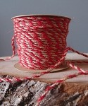 Red-Natural Jute Cord, 2.5 mm x 50 yards