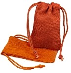 Orange Burlap Jute Favor Bags - 12 pack